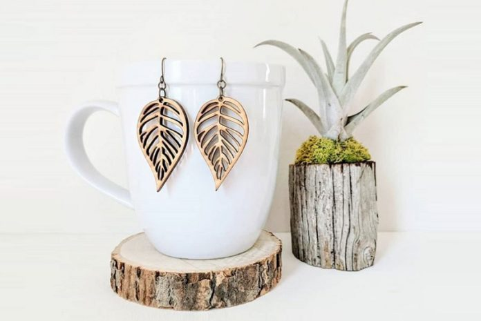 Tiny Grace Jewelry - Laser Cut Wood Earrings