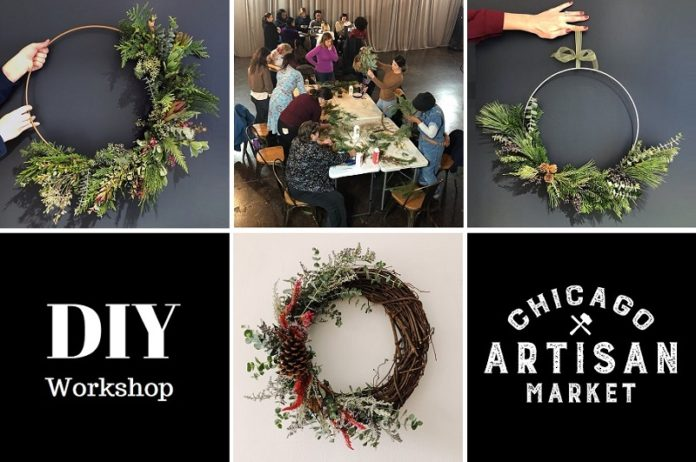 Holiday Wreathmaking Class at Chicago Artisan Market