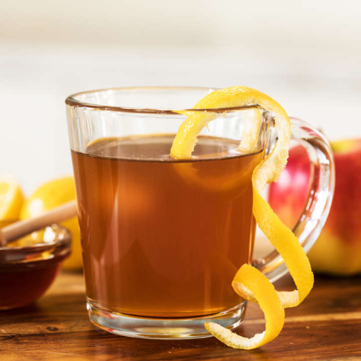Hot Honey Apple Tea