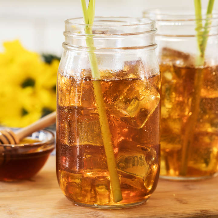 Honey-Ginger Iced Green Tea with Lemongrass