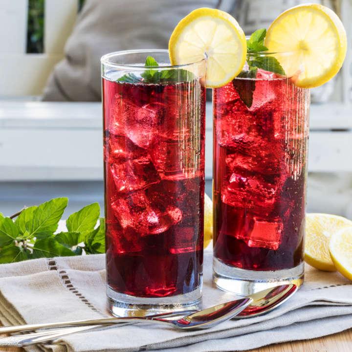 Hibiscus Iced Tea Sparkler