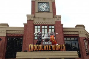 Hershey's Chocolate World is one of many family-based attractions in Hershey