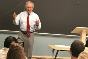 Jim Broussard teaching about the American Resolution at Lebanon Valley College