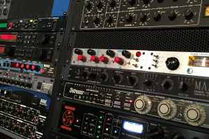 The experimental sound lab is used for electronic music exploration and circuit bending