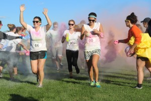 The campus community participates in a color run