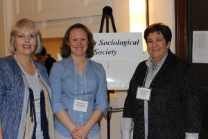 Amanda Lubold, sociology alum with Marianne Goodfellow and Sharon Arnold.