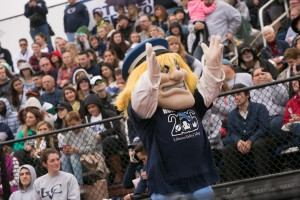 The Dutchman gets the crowd excited at a home LVC sporting event