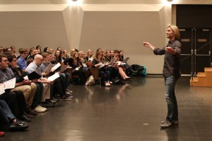 Lebanon Valley College welcomed Grammy-award winning composer and conductor Eric Whitacre