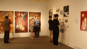 Art students showcased their work in a senior exhibition at the Gallery