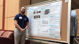 Lebanon Valley College biochemistry student Adam Bennett presents research during his internship with the Food and Drug Administration