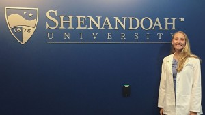 Biochemistry and molecular biology graduate Alexandria Lehman '18 is ready to begin her PharmD program.