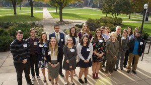 Student and faculty recipients of the Arnold Grants pose for a photo at Lebanon Valley College