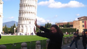 An LVC visits the leaning Tower of Pisa in Italy