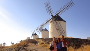 LVC students visit a windmill in Spain