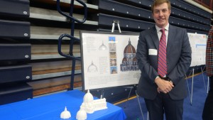 Matthew Eshbach shows off his 3D printed versions of the Duomo in Florence