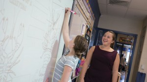 Early childhood education major completes student teaching