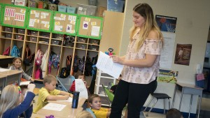 Lebanon Valley College early childhood education major teaches in an elementary school