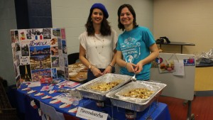 LVC students participate in the International Food Festival in the Lebagern Learning Commons