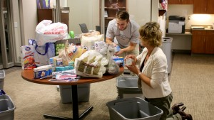 Hurricane relief efforts championed by students with help from new Community Service Coordinator, Jen Leidtka.