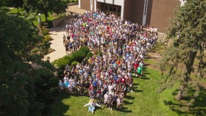 Lebanon Valley College's Class of 2022 group photograph