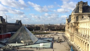 The Louvre is a popular sight in France