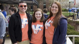 Students display their 2015 Valleyfest T-shirts