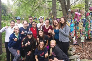 Lebanon Valley College students visit the Quittapahilla Creek Garbage Museum