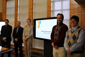 Business Administration students present their work with the Lebanon YMCA