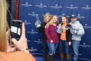 Prospective LVC students pose in the photo booth at LVC Live