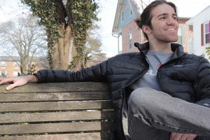 VALE Artist Henry Devorick poses on Lebanon Valley College's campus.