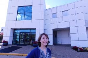 Lebanon Valley College alum Bethany Hopman poses outside of Paisley Park