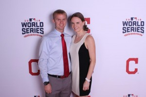Dr. Andrew Pipkin poses for a picture at a Cleveland Indians World Series event