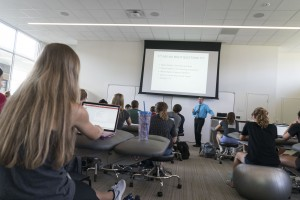 Dr. Michael Lehr teaches a physical therapy course at Lebanon Valley College