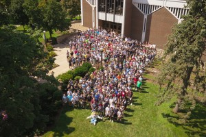 Lebanon Valley College welcomed a record 518 new students to campus.