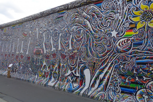 A photo of the Berlin Wall in Germany