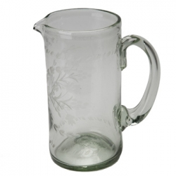Condessa Wide Cylinder Green Pitcher