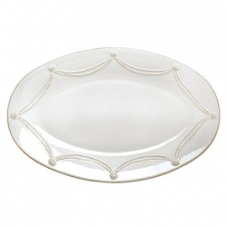 Berry & Thread Whitewash Large Oval Platter