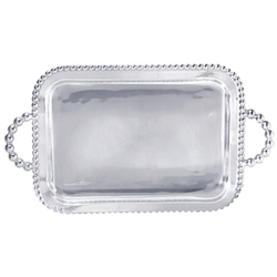 String of Pearls Rectangular Service Tray