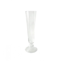 Baccarat Mille Nuits Champagne Flute Since 1764, when King Louis XV gave the Bishop de Montmorency-Laval of Metz permission to found a glassworks in the town of Baccarat in Lorraine, the name Baccarat has personified a certain image of French fashion and culture. It started as a simple glassworks producing windowpanes, mirrors, and everyday drinkware, until 1816 when the first crystal oven went into operation. Over 3,000 people worked at the manufactory by this time.