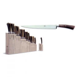 Berti Slicing Knife with Insieme Block Berti, founded in 1895 by David Berti, is dedicated to Italian regional knives. Each knife is hand-forged by one pair of hands from start to finish, making sure that each knife possesses heirloom quality. All Berti knives are guaranteed for life.