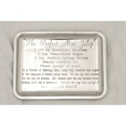 Pewter Mint Julep Recipe Tray