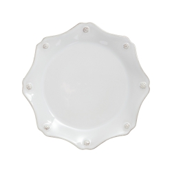 Berry & Thread Whitewash Scalloped Salad Plate