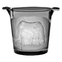 Mare and Foal Stall Scene Large Ice Bucket