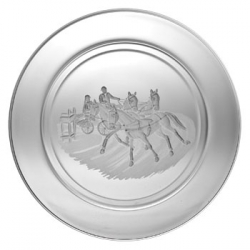 Small Plate/Wine Coaster Engraved with Combined Driving Image