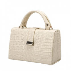 Ivory Leather Jewelry Case