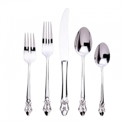 Fleur de Lis Stainless Five Piece Place Setting