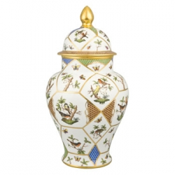 Rothschild Bird Limited Edition Covered Urn with Button Finial