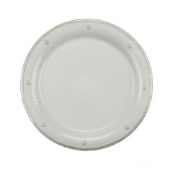 Berry & Thread Whitewash  Round Dessert Plate
