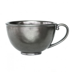 Pewter Stoneware Cofftea Cup
