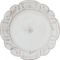 Jardins du Monde Whitewash Dinner Plate